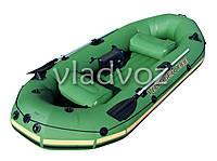 Лодка надувная с веслами двухместная Voyager 1000 65056