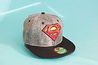 Бейсболка серая Superman