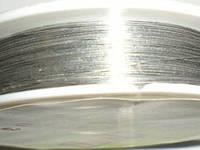 Проволока для бижутерии 1646 серебро  0.37 мм