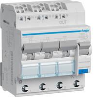 Диференційний автоматичний вимикач 3x(1P+N) 6kA C-10A 30mA тип-А QuickConnect