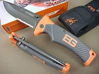 Туристический складной нож Gerber Bear Grylls Folding Sheath Knif с чехлом -  копия!