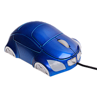Проводная USB - мышь для компьютера, синего цвета, фото 1