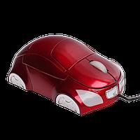 Проводная USB - мышь для компьютера, красного цвета