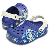 Кроксы для девочки Фрозен мигают и светятся оригинал / Сабо Crocs Kids' CrocsLights Frozen Clog, фото 1