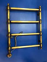 Электрический полотенцесушитель бронзовый с ТЭНом Ретро Шар 04П 500*700