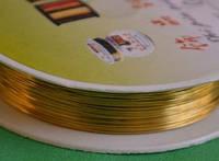 Проволока для бижутерии 1649-1 золото  0.37 мм