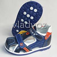 Босоножки сандалии для мальчика кожа синие 20р. Clibee