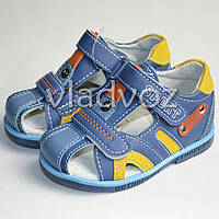 Босоножки сандалии синие для мальчика 23р. Bessky