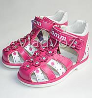 Босоножки сандалии для девочки, девочек малиновые 20р. Том.м