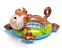 Детский надувной плавательный круг для плавания игрушка обезьяна Intex 58221