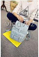 Городской женский модный стильный рюкзак сумка серый