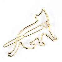 Заколка для волос Кошка золото, фото 1