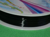 Проволока для бижутерии 1648 чёрный  0.6 мм, фото 1