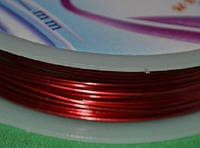 Проволока для бижутерии 1650 красный  0.6 мм, фото 1