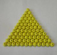 Бусина акриловая (имитация натурального камня) 10 мм. Желтая, 100 шт./уп., фото 1