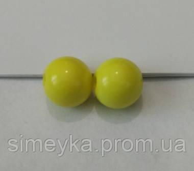 Бусина акриловая (имитация натурального камня) 10 мм. Желтая, 10 шт./уп.