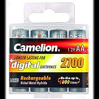 Аккумуляторы camelion r 6 4 штуки 2700 mah ni-mh в пластиковом футляре (nh-aa2700bhc4)