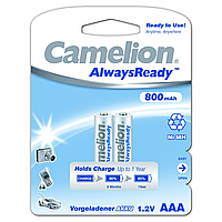 Аккумуляторы camelion r 03 2 штуки 800 mah ni-mh always ready (nh-aaa800Аrbp2)