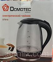 Электрический чайник (стекло) Domotec DT-810, электрочайник-термос, стеклянный электрочайник 2 л