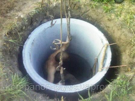 Сливная яма под ключ. Выгребная яма. Сточная яма на даче.