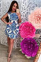 Красивое платье с рисунком