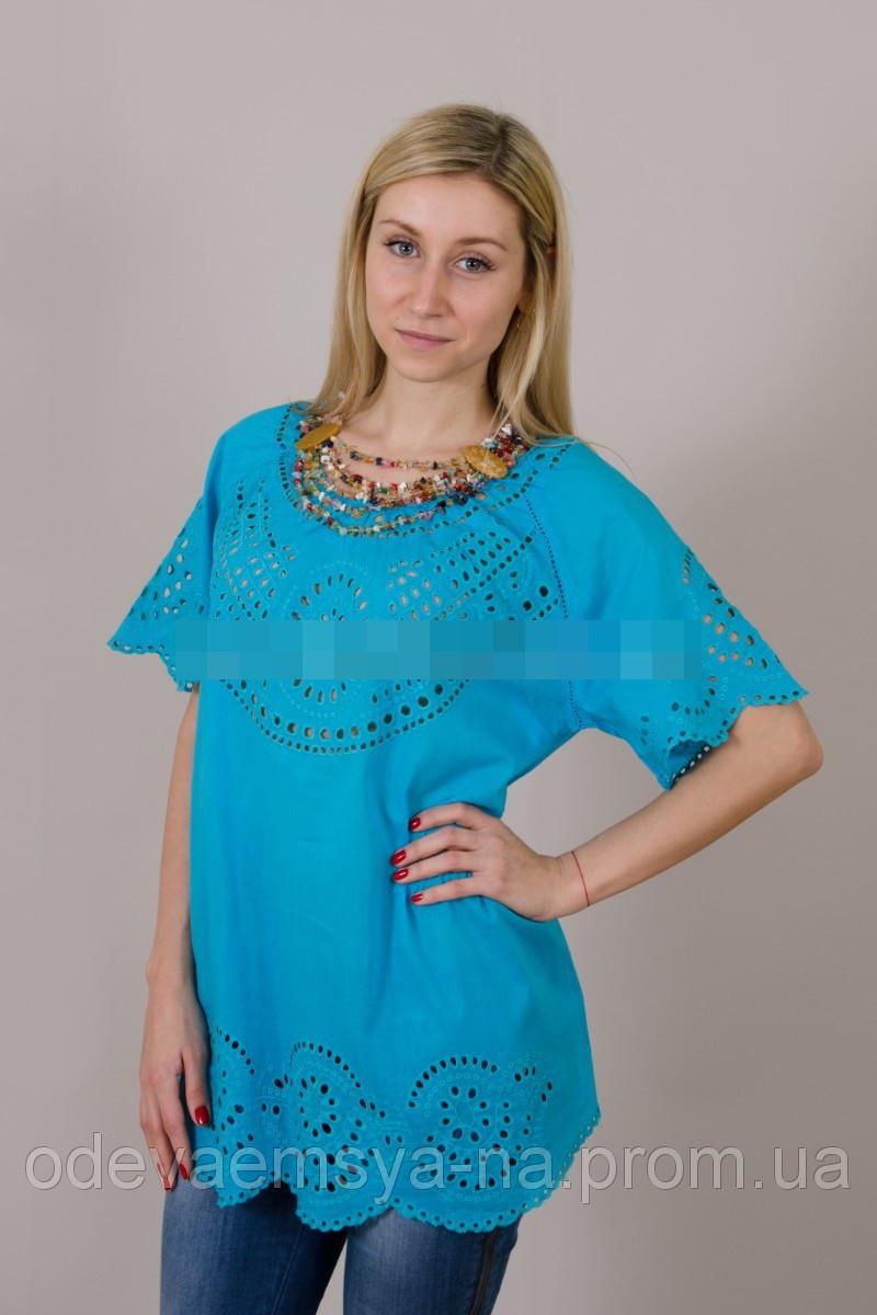 Бавовняна літня блуза №19