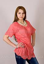 Бавовняна літня блуза №19, фото 3