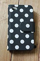 """Купить защитный чехол книжка iPhone 4 """"Стильный горошек"""", фото 2"""
