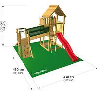 Детский игровой городок Джангл Дворец (горка, домик, площадка), фото 1