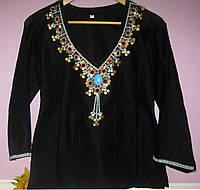 Женская блуза туника, натуральный хлопок, Индия