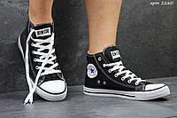 Мужские высокие кеды Converse All Star черные / кеды мужские Конверс / Конверсы черные, 2017