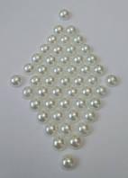 Полубусина (жемчуг половинка) 8 мм перламутровая, 20 шт./уп. Молочная, фото 1