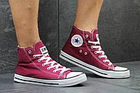 Женские высокие кеды Converse All Star бордовые / кеды женские Конверс / Конверсы бордовые, 2017, модные