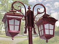 Фонарь садово-парковый на 2 рожка DJ077-M-2