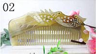 Гребень кость натуральный для волос Утки мандаринки