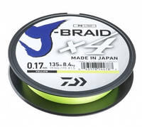 Шнур Daiwa J-Braid X4E 0.17mm 135m Yellow