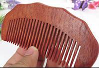 Натуральная деревянная расческа из палисандра
