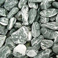 Мраморная галька черный Ангельский камень 50-100 мм
