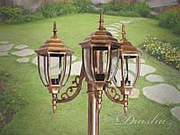 Фонарь садово-парковый на 3 рожка DJ032-3 GB