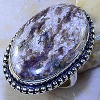 """Серебряный перстень  с натуральным чароитом """"Шелковый"""" , размер 19 от студии LadyStyle.Biz, фото 1"""