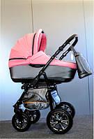 Детская коляска 2 в 1 Ajax Group Glory Quarts (серый+розовый)