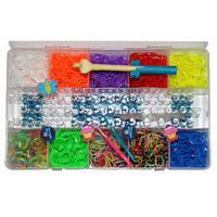 Резинки для плетения браслетов Rainbow Loom bands 2200 шт. с оригинальным станком