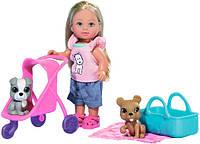 Кукла Эви с коляской и ее питомцы, Steffi & Evi Love