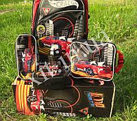 Детский набор 5 в 1 Авто:рюкзак на колесах, сумка, пенал, посуда