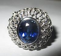 """Богатое кольцо """"Индиго"""" с сапфирами , размер 17  студия LadyStyle.Biz, фото 1"""