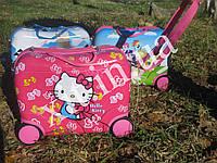 Детские чемоданы каталки  розовый