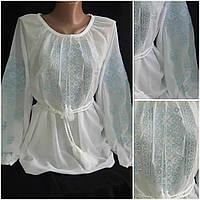 Красивая вышитая блузка, шифон, 42-56 р-ры, 290/260 (цена за 1 шт. + 30 гр.)