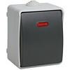 Выключатель одноклавишный со световым индикатором для открытой установки 10 А/250В~ВС20-1-1-ФСр IP54