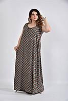 Женское Платье с квадратным узором 0520-2 (42-74)