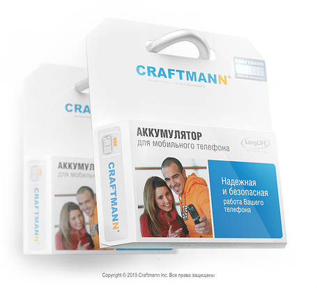 Аккумулятор Craftmann для Samsung GT-C3595 (ёмкость 800mAh), фото 2
